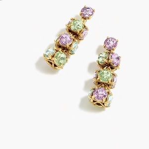 Jcrew Twisted Crystal Drop Earrings